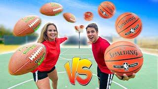 FOOTBALL vs BASKETBALL TRICKSHOT H.O.R.S.E. ft. Jenna Bandy