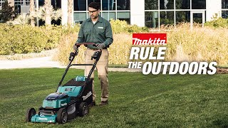 "MAKITA 18V X2 (36V) LXT® Brushless 21"" Self-Propelled Lawn Mower Kit w/ 4 Batteries - Thumbnail"