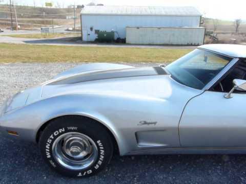 1973 Silver Corvette Convertible Video