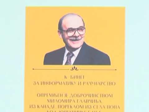 Donacija Milomira Glavcica Gimnaziji Raska