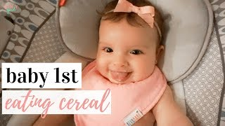 When to give rice cereal to breastfed baby