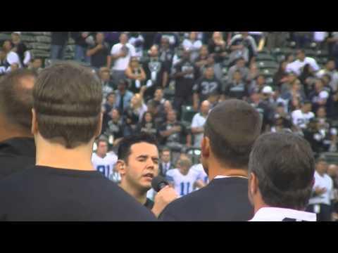 JD Greer Oakland Raiders VS Dallas Cowboys National Anthem 2013