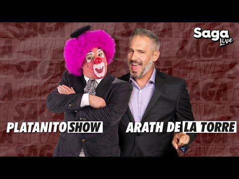 Platanito Show y Arath de la Torre con Adela Micha