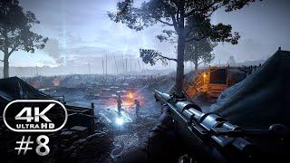 Battlefield 1 4K Gameplay Walkthrough Part 8 - BF1 Campaign 4K 60fps