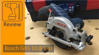 Was kann die kleine Handkreissäge Bosch GKS 10,8 V-LI 12V ?