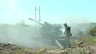 На Чугуївщині нацгвардійці стріляли осколково-фугасними снарядами