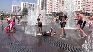 Как новокузнецкие ребятишки спасаются от жары