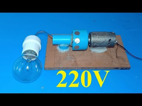 DIY 220V generator , How to make a powerful dynamo , amazing science school project