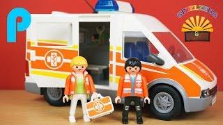 Krankenwagen mit Licht und Sound 6685 - Playmobil City Life - Film Kinderklinik Hospital auspacken