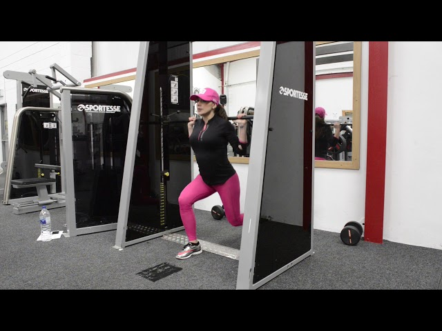Smith Machine Reverse Lunges