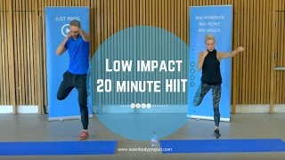 Low impact 20 minute HIIT workout - beginner/intermediate (H20 plan workout 1 ) by Body Project