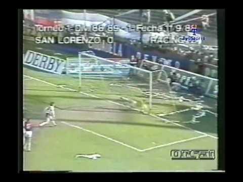 Goles de su pasó por Racing de Avellaneda