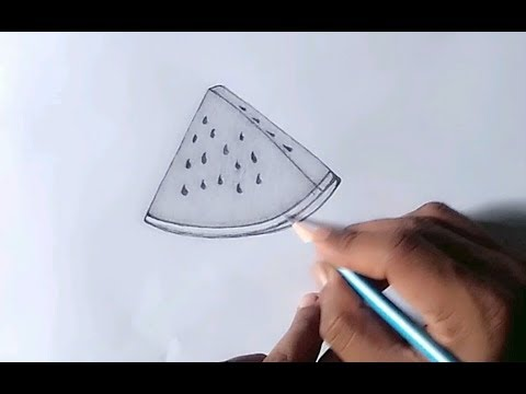 How To Draw A Watermelon Slice In A Few Easy Steps Drawing Tutorial