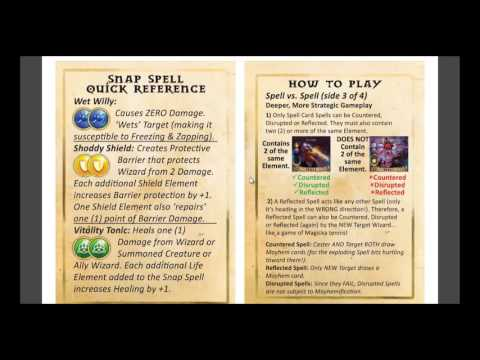 Learn to Play Magicka Mayhem Card Game: Tutorial Video #8 - Deeper, More Strategic Rules