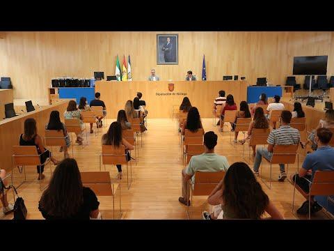 Bienvenida a estudiantes en prácticas de la Universidad de Málaga en la Diputación