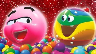 Christmas Ball Pit Game! | SQUISHY FUN! | Wonderballs Cartoon by Cartoon Candy