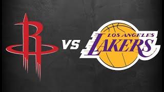 Los Angeles Lakers Vs. Houston Rockets LIVE STREAM Reaction