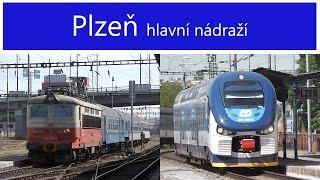 Vlaky - Plzeň hlavní nádraží - 23.7.2013