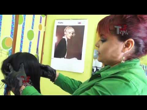 Przekrój czubkach leczenia włosy środków ludowej