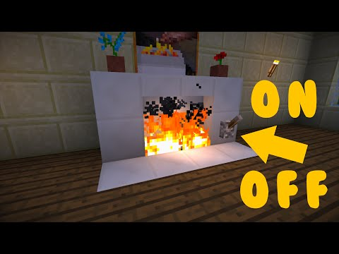Minecraft: How to Make a Redstone Fireplace