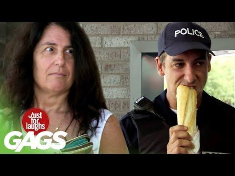 Policial Faminto Come a Comida de Estranhos