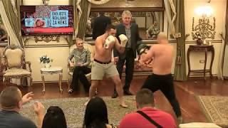 ZESTOKA BORBA U RINGU - Gastoz protiv Milija boks - Parovi - (TV Happy 23.11.2017)