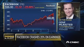 Facebook crashes 20% on earnings