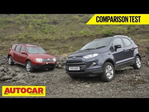Ford EcoSport Vs Renault Duster | Comparison Test | Autocar India
