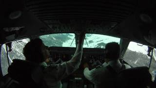 preview picture of video 'K2 SmartJets Approach-Landing to Samedan R21 from NE'