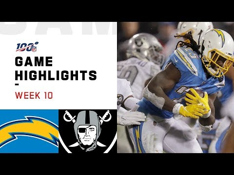 Download Chargers vs. Raiders Week 10 Highlights | NFL 2019 HD Mp4 3GP Video and MP3