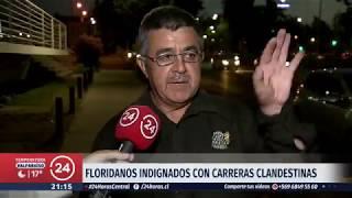 Carreras clandestinas se han tomado sector de La Florida