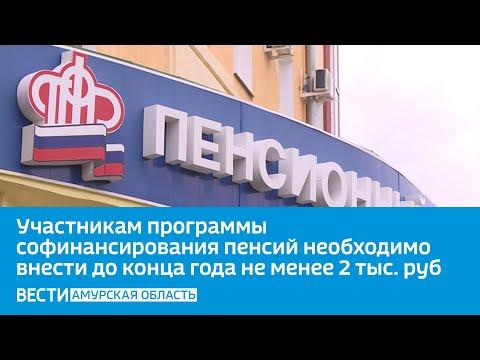 Участникам программы софинансирования пенсий необходимо внести до конца года не менее 2 тысяч рублей
