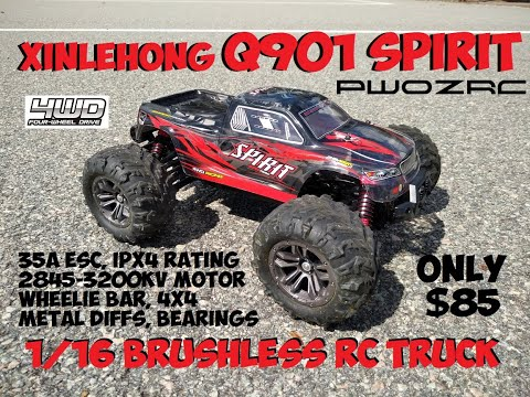 XINLEHONG Q901 BRUSHLESS 1/16 SCALE TRUCK FULL REVIEW