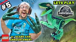 Lets Play LEGO Jurassic World Part 5: TOO MUCH POOP IN THE VISITOR CENTER! (Scare Cam Announcement)