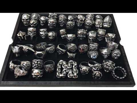 *51* SILVER SKULL RINGS COLLECTION & STAINLESS STEEL RINGS   ENJOY