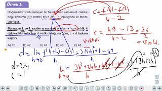 Eğitim Vadisi AYT Matematik 15.Föy Türev 1 Konu Anlatım Videoları