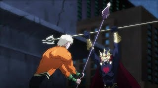 Aquaman vs Orm   Justice League: Throne of Atlantis