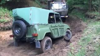УАЗ 469 застрял Bergung Tatra 815 & Borgward B2000A Rescue
