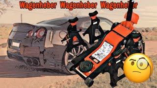 Wagenheber Nissan GTR aufbocken