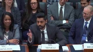 Hasan Minhaj's testimony before Congress on the student loan crisis