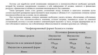 Методика анализа банкротства