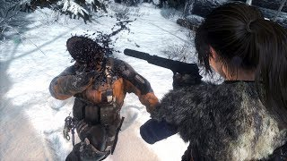 Rise of the Tomb Raider Brutal Stealth Kills & Takedowns Gameplay (Research Base)