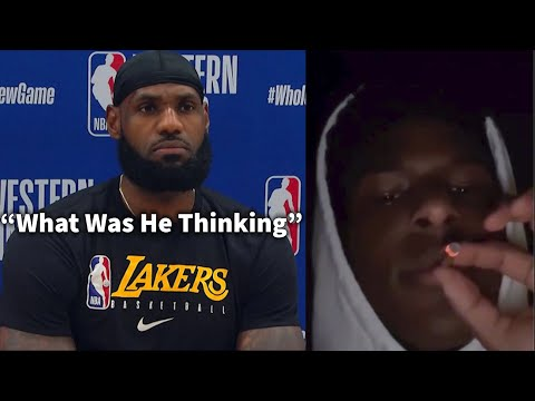 LeBron Reacts to Video of Bronny James