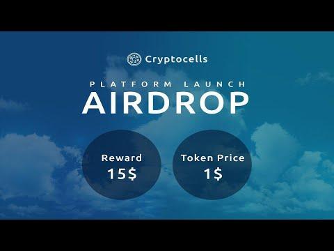 Ganhe U$15 Dólares Grátis no Airdrop Bot Cryptocells !