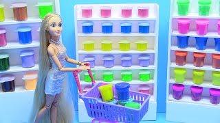 Cửa Hàng Slime Của Công Chúa Ariel ( búp bê Barbie) chị Bí Đỏ