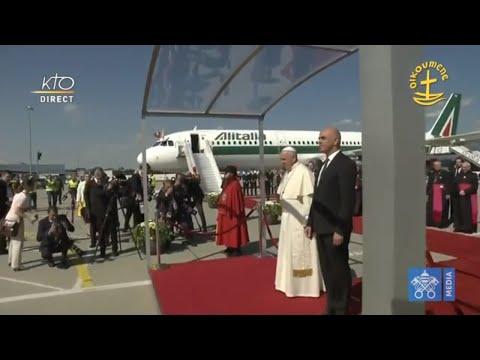 Pape en Suisse : Cérémonie de Bienvenue