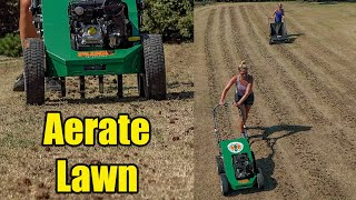 Aerating Bermuda Lawn - Late Summer Aeration