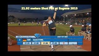 David Storl 21.92 meters Shot Put at Eugene 2015