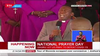 Bishop Mark Kariuki prays for families during National prayer day