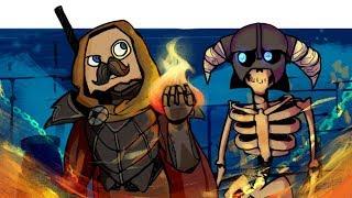 TES V: Skyrim : КООП ПО СЕТИ! | Приколы в Скайриме, Смешные моменты